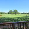 A sunny day view from the clubhouse at Indian Boundary Golf Course.