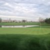 A view of a green with water coming into play at Brentwood Golf Club.