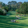 A view of a green at Los Coyotes Country Club.
