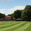 A view of a green and the clubhouse in background at Gosforth Golf Club.