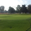 View of the putting green at Baylands Golf Links