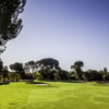 A sunny day view from a fairway at Encino from Sepulveda Golf Complex.