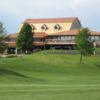 A view of the clubhouse at Coppertop Golf Club