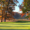A fall day view of a hole at Cantigny Golf.