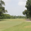 A view of tee #12 sign at Gus Wortham Park Golf Course.
