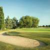 Behind the 18th hole from the Championship Course at Stockwood Park Golf Club