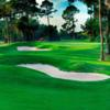 A view of the well protected green #4 at Palm Harbor Golf Club.