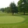 A view of a green at Saxon Woods Golf Course.
