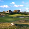 A view of the 18th hole at Ballyowen Golf Club.