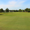 Looking back from a green at Lexington Oaks Golf Club