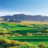 A view from a tee at Primm Valley Golf Club.