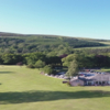 A view of a fairway and the clubhouse at Torwoodlee Golf Club.