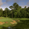 A sunny day view of a hole at Legacy Golf Links.