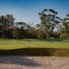 A sunny day view of a hole at Merewether Golf Club.
