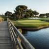 A view from a bridge at Monarch Beach Golf Links.