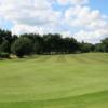 Looking back from the 8th green at Frilford Heath Golf Club Red Course