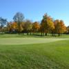 A fall day view of a hole at Wild Marsh Golf Club.