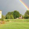 A view of the rainbow over English Hills Golf Course.