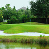 A view of the 18th green at Plantation Palms Golf Club
