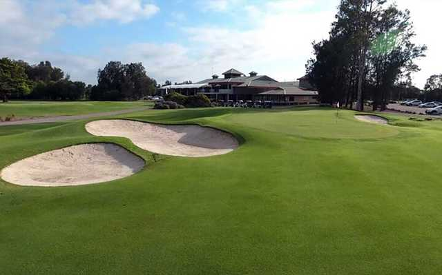 View of the 9th green on the White nine at Catalina Country Club
