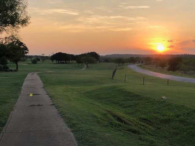 Sunset view from Holiday Hills Golf Course