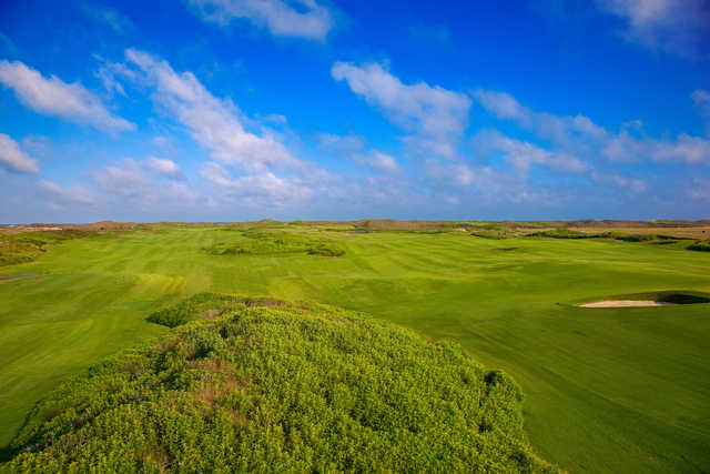 A look at the par-4 third and seventh holes at Palmilla Beach Golf Club in Port Aransas, Texas.