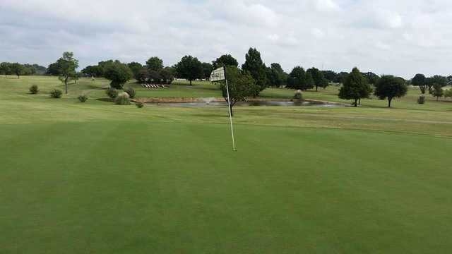 View from a green at Holiday Hills Golf Course