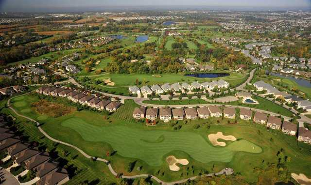 Aerial view from Golf Club at Yankee Trace