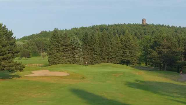 A view of hole #7 at Front fro Enger Park Golf Course.