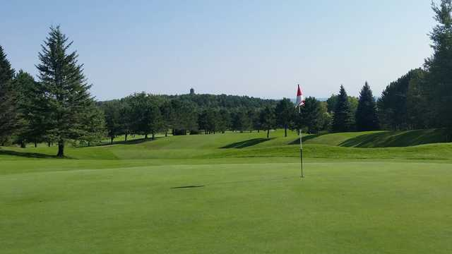 A view from green #3 at Back from Enger Park Golf Course.