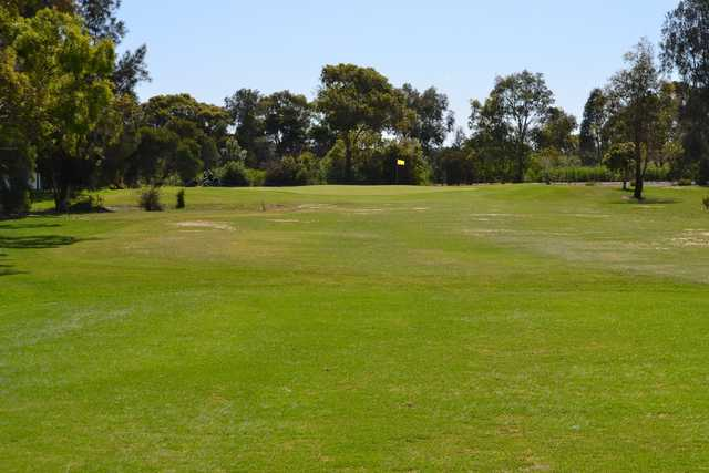 A view of hole #5 from Edithvale Public Golf Course.