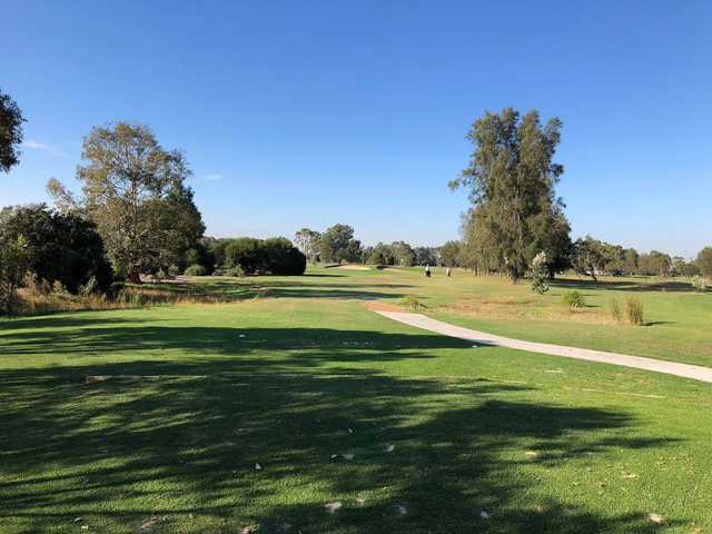 A view of tee #6 during the monthly medal round at Edithvale Public Golf Course.