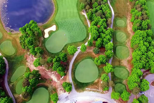 Aerial view from Crosswinds Golf Club