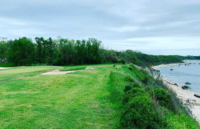 A view of hole #16 at Island's End Golf & Country Club.