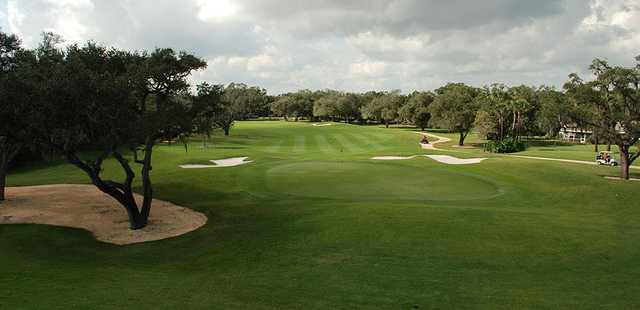 A view of the 1st green at Vero Beach Country Club.