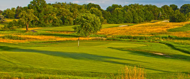 A view of a hole at Woodholme Country Club.