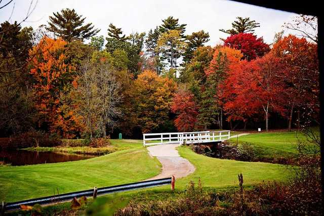 Fall view of the 12th green at The Ridges Golf Course