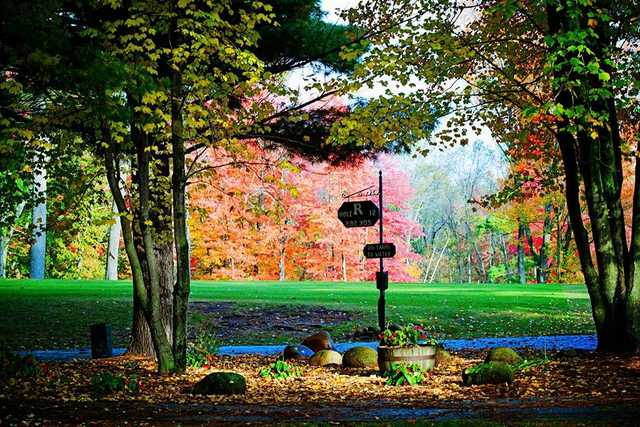 Fall view of the 12th tee at The Ridges Golf Course