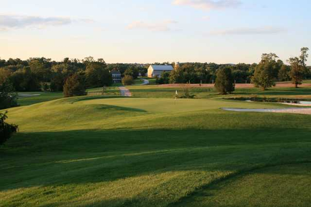 View of the 16th green at Honey Run Golf Club