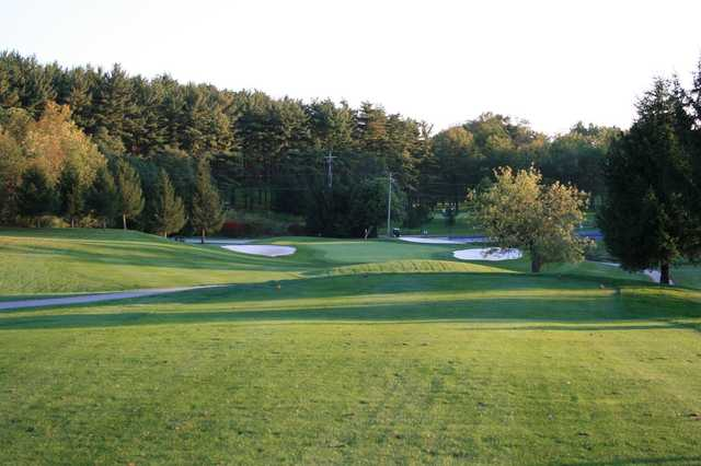 View of the 17th green at Honey Run Golf Club