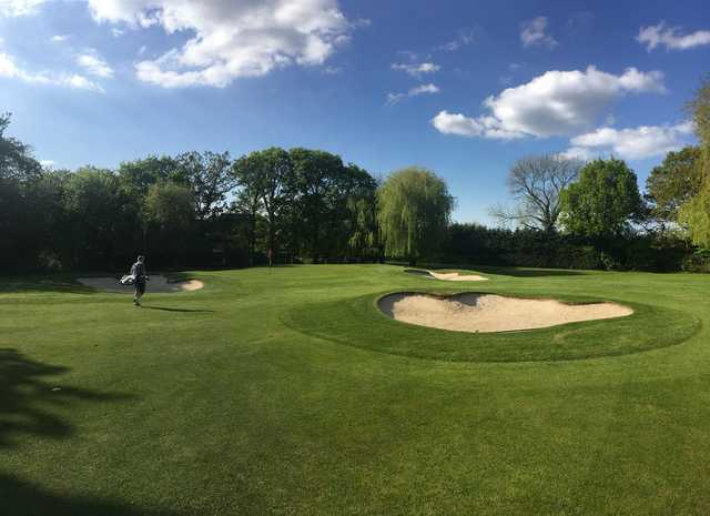 View of the 2nd green at Chigwell Golf Club
