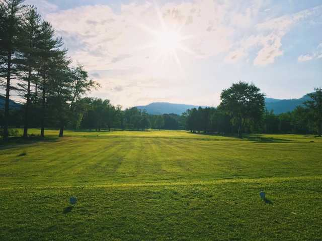 A view from a tee at Middlesboro Country Club.