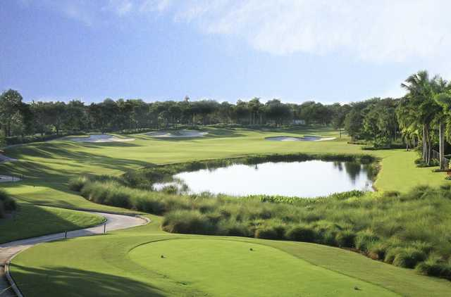 A view from the 5th tee at Redemption Golf Course from Addison Reserve Country Club.