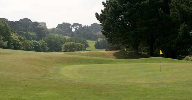 View of a green at Truro Golf Club