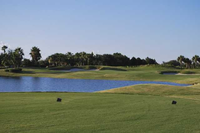 A view from a tee at Stoneybrook West Golf Course.
