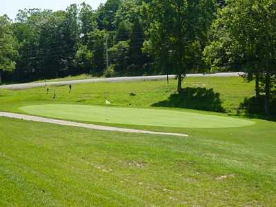A view of green #16 at Spring Hills Golf Course