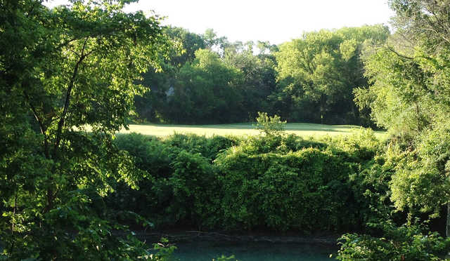 A view of a hole at Canal Shores Golf Course.