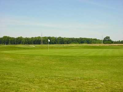 A view of the 18th green at Spring Hills Golf Course