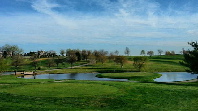 A view of the island hole at Big Blue from University Club of Kentucky.