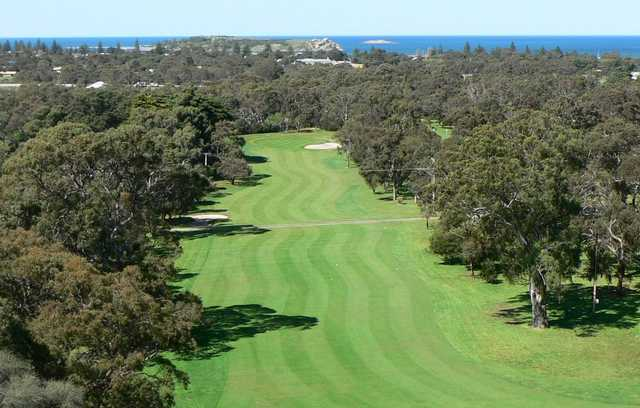 View of the 1st hole at Victor Harbor Golf Club